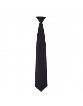 MEN'S BLACK BREAK AWAY CLIP ON TIE